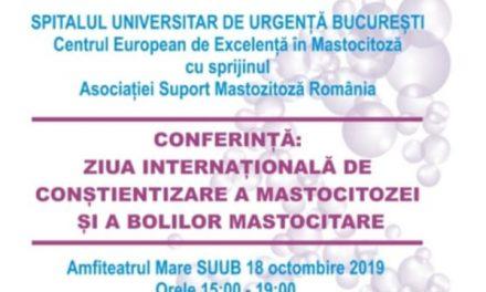 """A doua editie a Conferintei """"Ziua internationala de constientizare a mastocitozei si a bolilor mastocitare"""""""